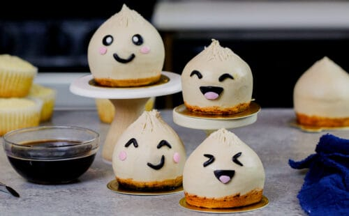 image of kawaii inspired dumpling cupcakes