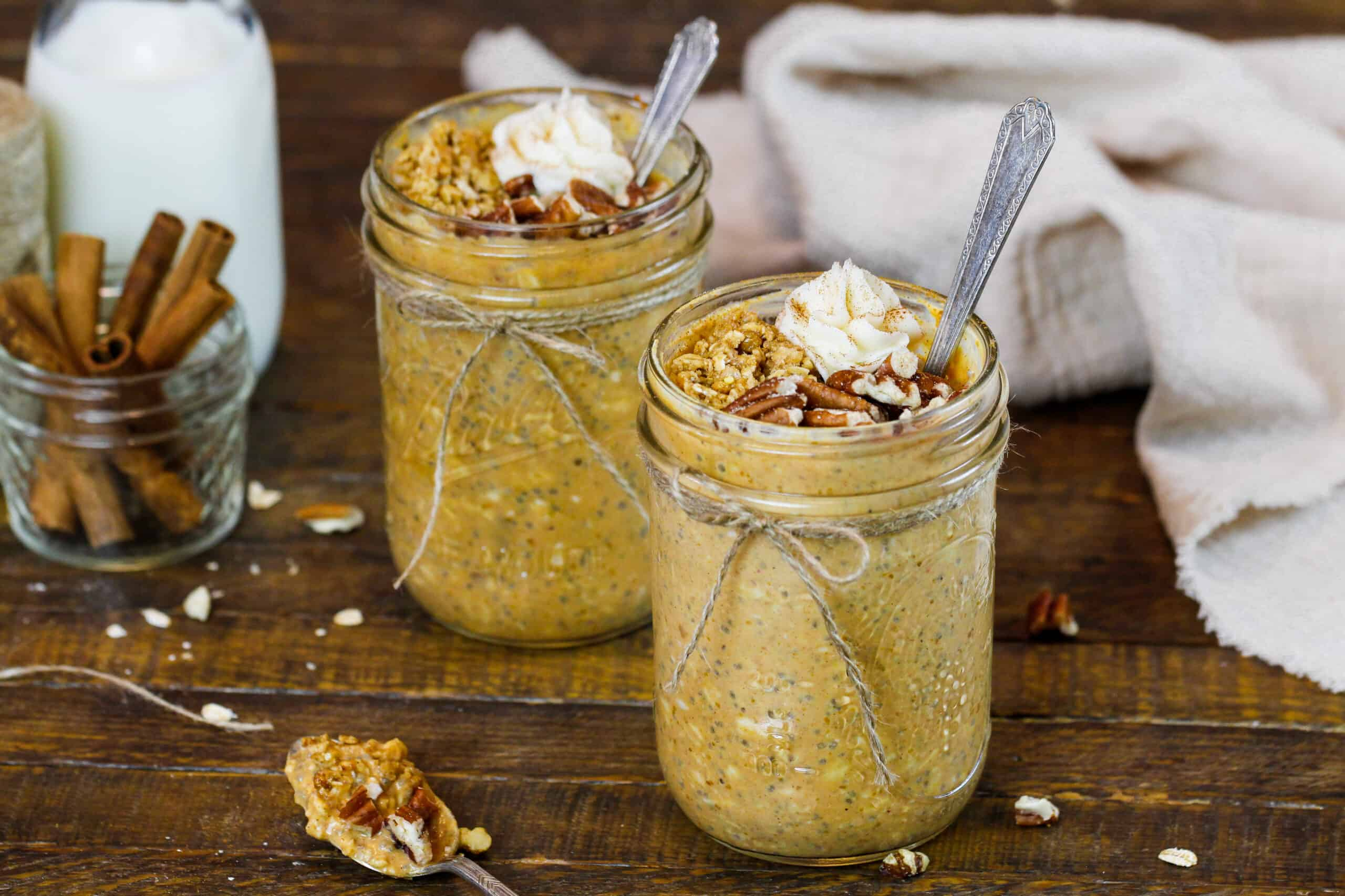 image of pumpkin spice overnight oats