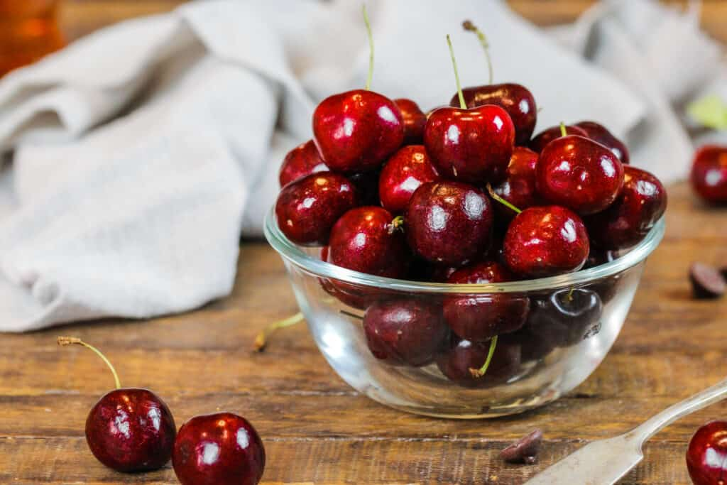 image of fresh cherries ready to be made into cherry overnight oats