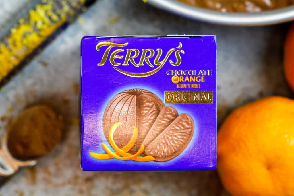 image of a chocolate orange in a box