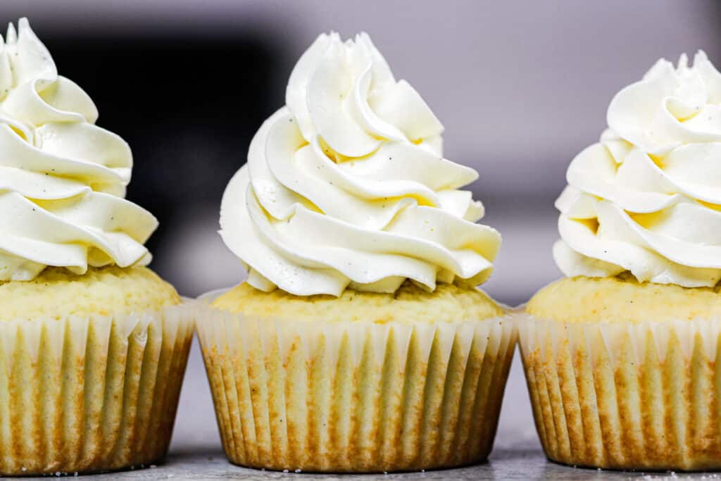 image of homemade sugar free vanilla cupcakes