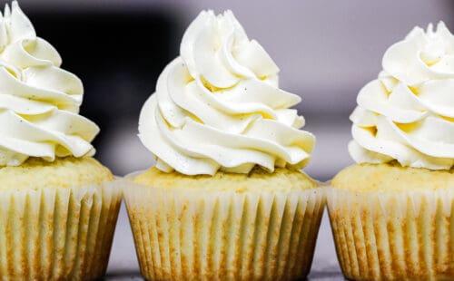 image of homemade sugar free vanilla cupcakes