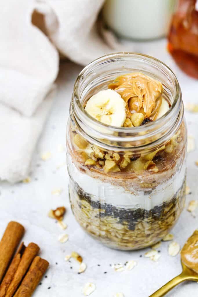 image of banana overnight oats