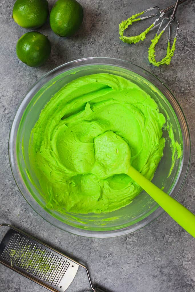 image of green buttercream frosting