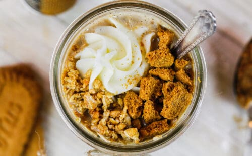 image of biscoff overnights oats