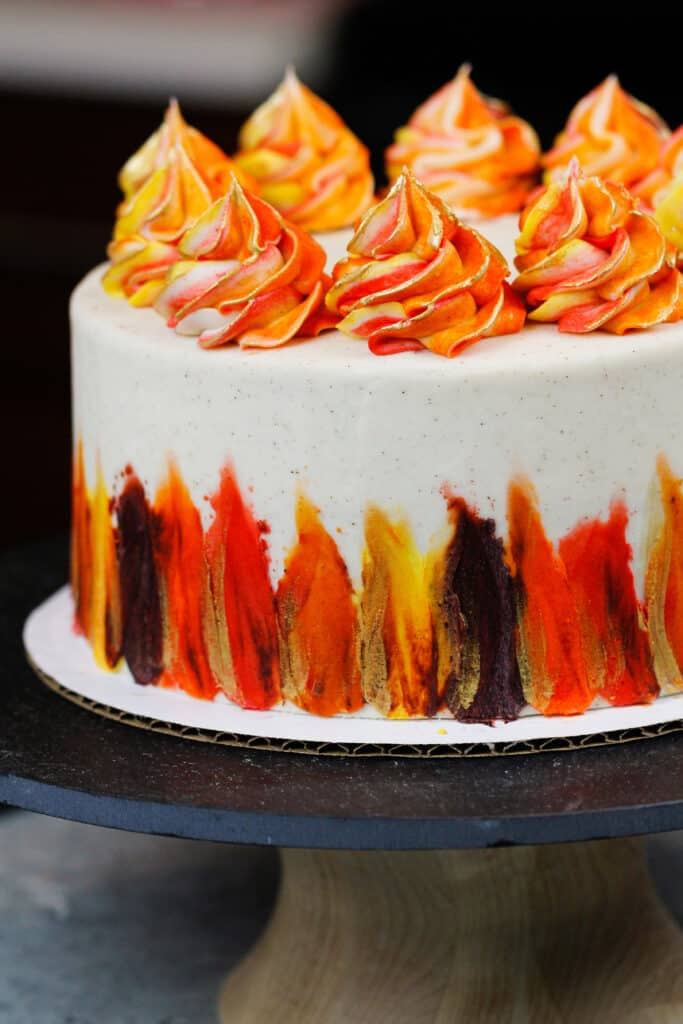 image of a beautiful fall spice cake