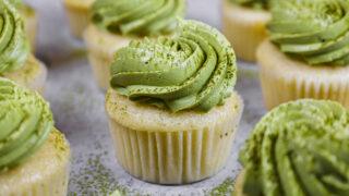 image of matcha cupcakes
