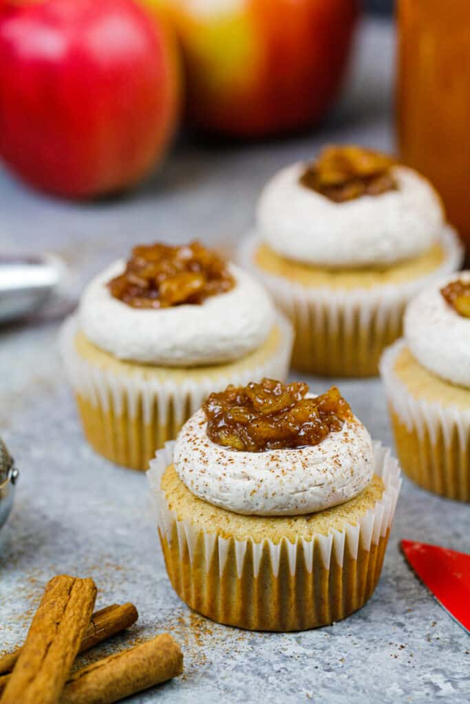 image of apple cider cupcakes