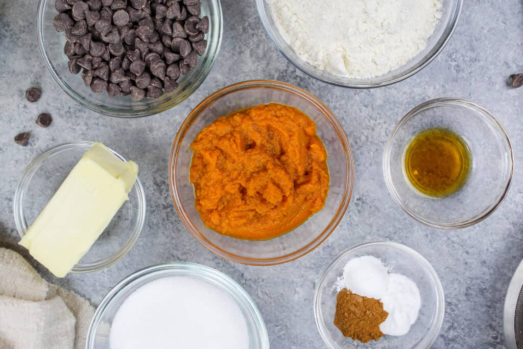image of vegan pumpkin cookie ingredients