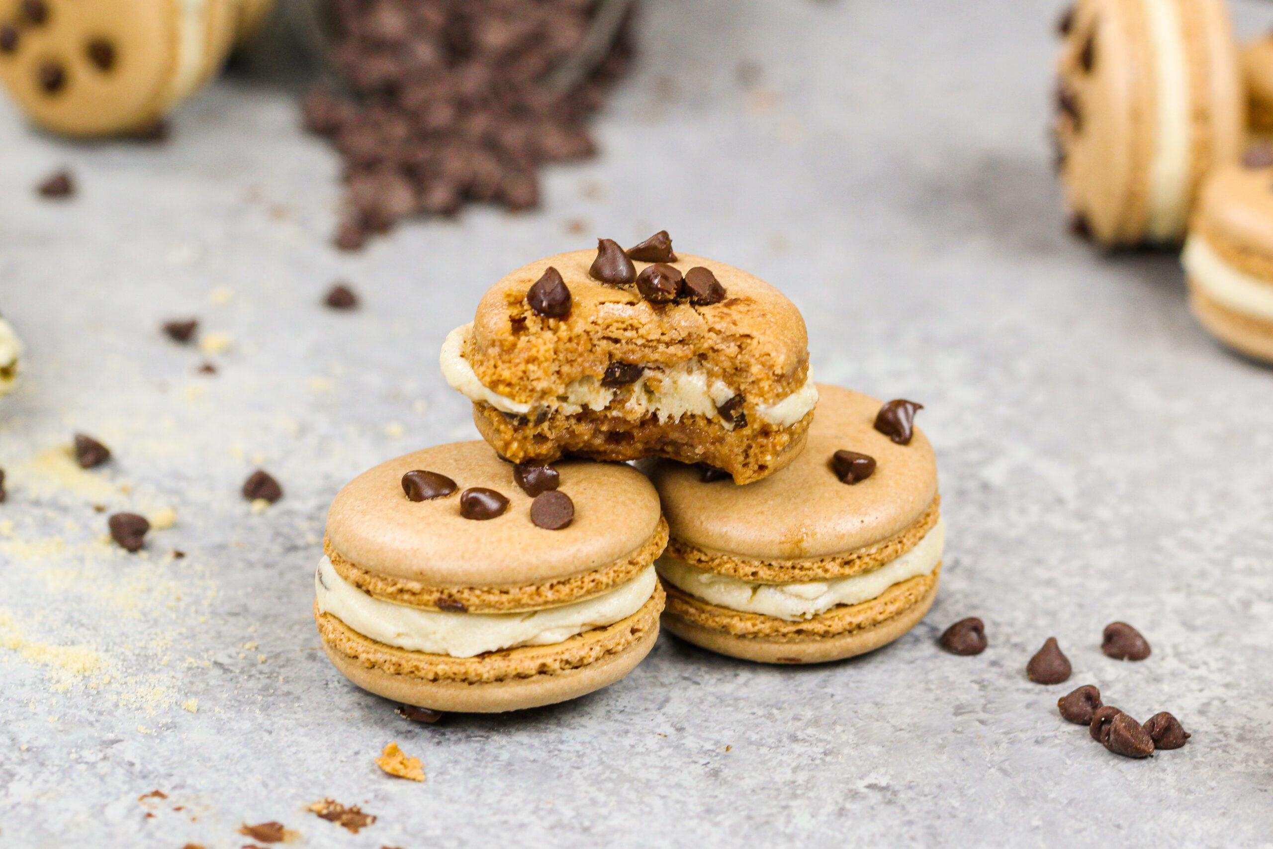 image of cookie dough macarons